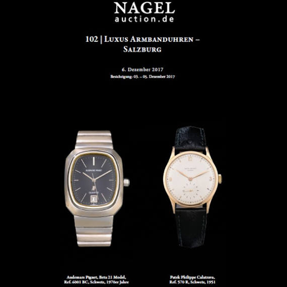 Nagel Auction Calendar