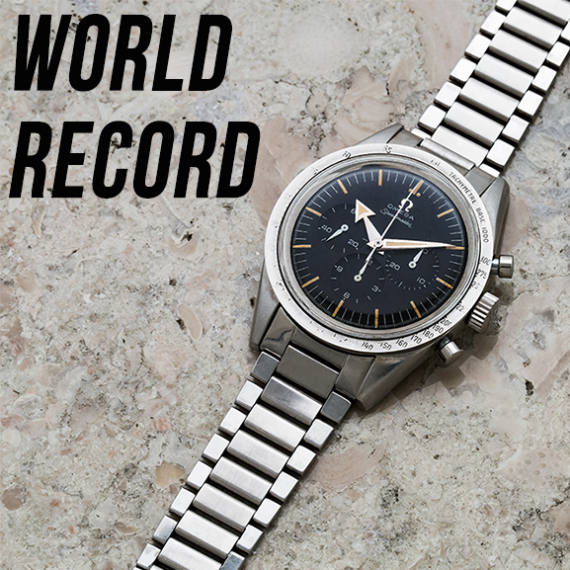 World Record for an Omega Speedmaster 2915-1 by Bukowskis Auctioneer partner of Mondani Web - Mondani Web