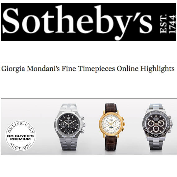 Sotheby's Fine Timepieces Online Highlights by Giorgia Mondani | Partner of Mondani Web - Mondani Web