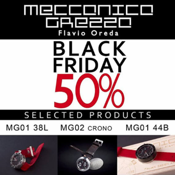 Black Friday Discounts | Meccanica Grezza | Mondani Web - Mondani Web - Mondani Web