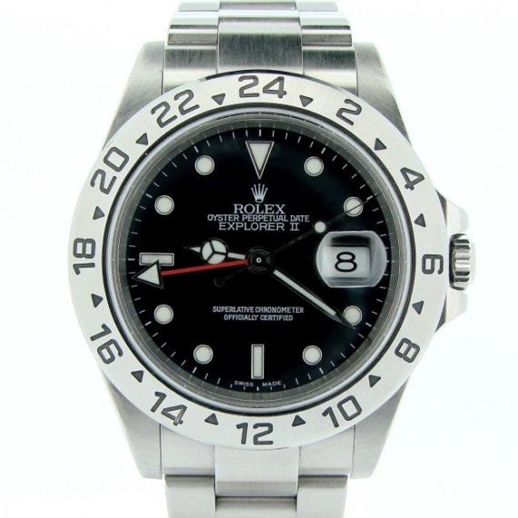 Rolex Explorer II Date Watch Ref. 16570T with a Black Dial - Mondani Web