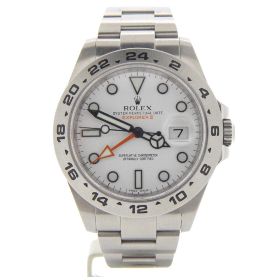 Rolex Explorer II Watch Ref. 216570 with a White Dial - Mondani Web