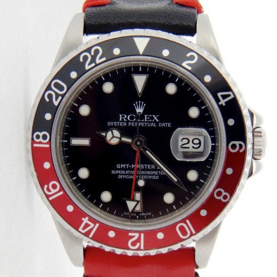 "Rolex GMT-Master II Date Watch Ref. 16710 with a Black Dial & Black & Red (""Coke"") - Mondani Web"