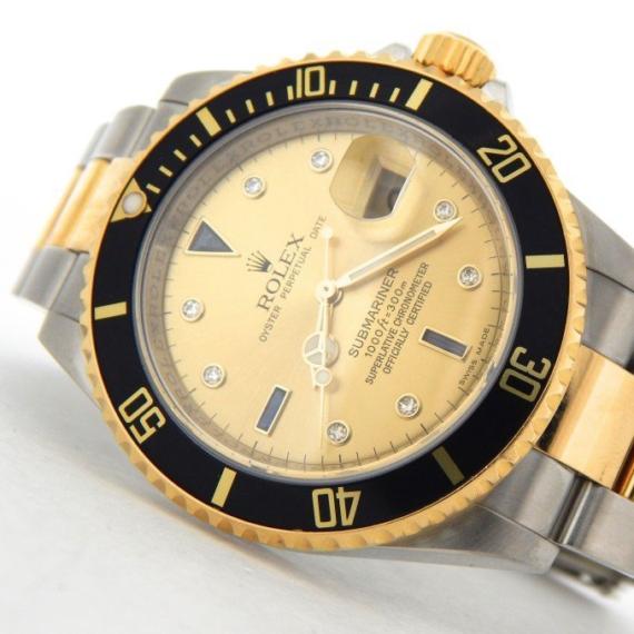 Rolex Submariner 18k Yellow Gold/Stainless Steel Watch Ref. 16613T - Mondani Web