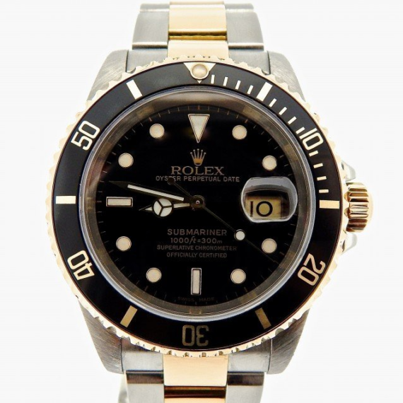 Rolex Submariner Watch Ref. 16613 with a Black Dial - Mondani Web