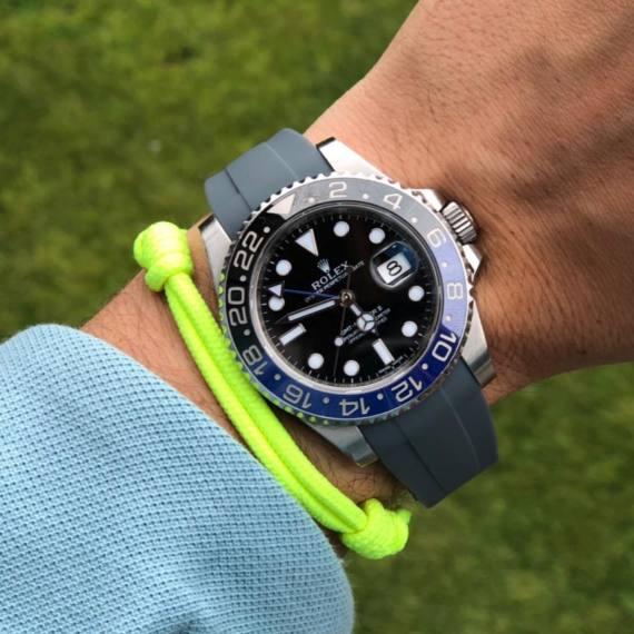 20mm Grey Rubber strap for Rolex - Mondani Web