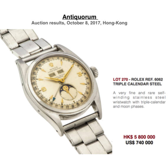 Auction results by Antiquorum Hong Kong Auction | October 8 - Mondani Web