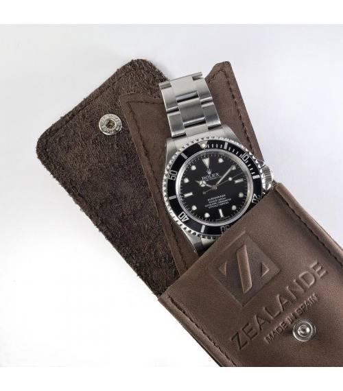 Zealande Nubuck Leather Watch Pouch (6 colors) - Mondani Web