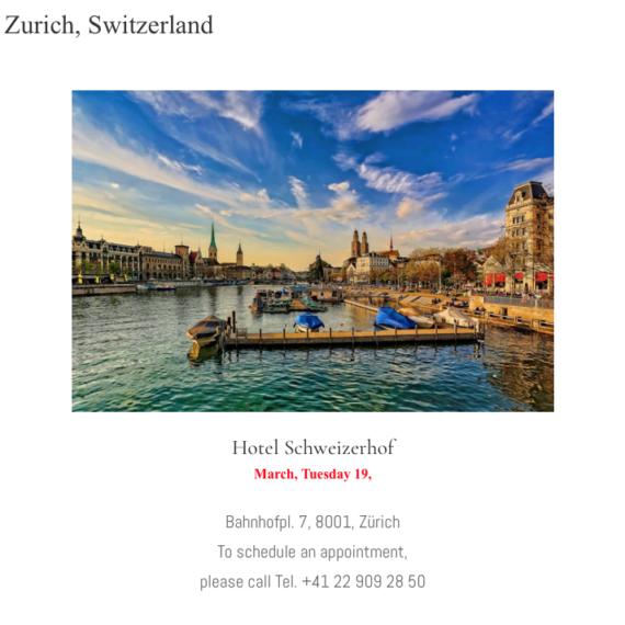 Zurich, Switzerland - Mondani Web