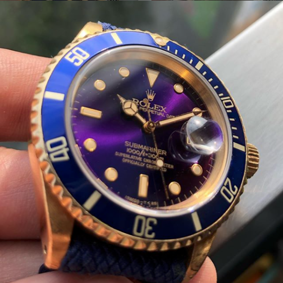 Rolex Submariner Ref.16618 Purple Dial - Mondani Web