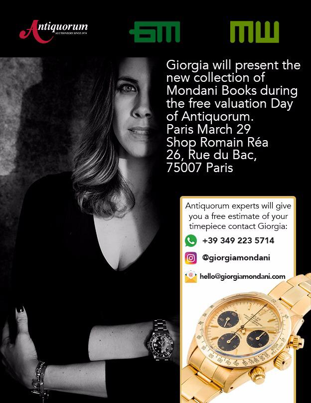 Giorgia Mondani will be at the Free Valution Day of Antiquorum! - MondaniWeb