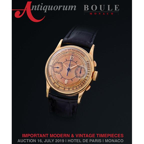 Important Modern & Vintage Timepieces | Antiquorum Auction - MondaniWeb