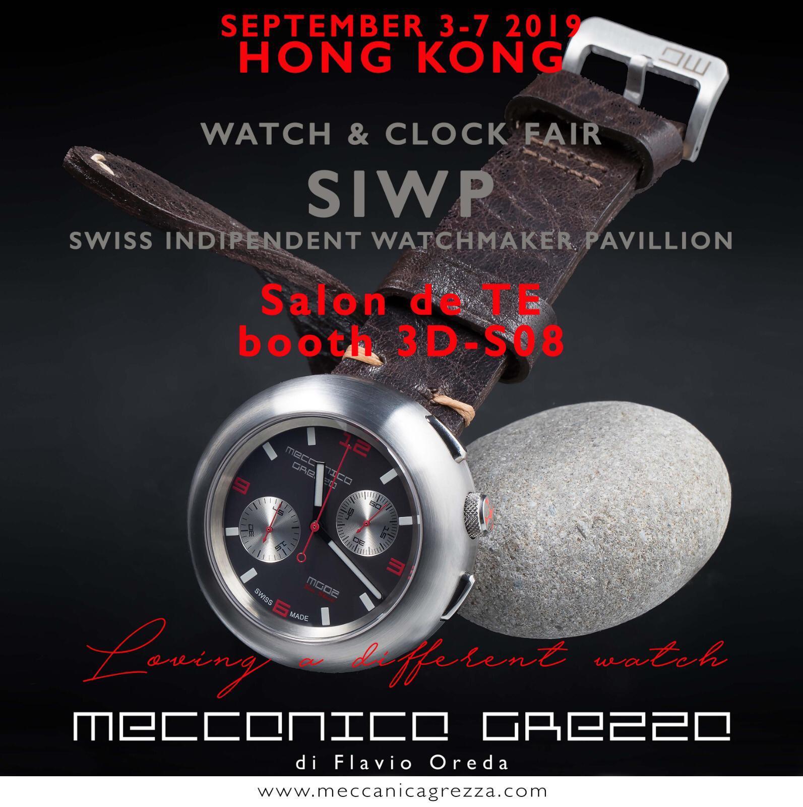 Meccanica Grezza at Watch & Clock Fair 2019 | Hong Kong - MondaniWeb