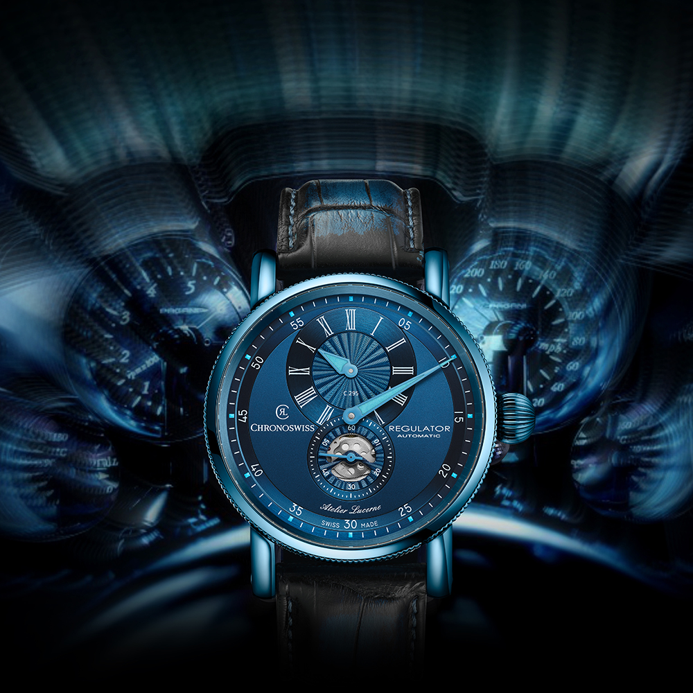 Blue Dashboard of Time, Regulator Classic Blue | Chronoswiss Press Release - MondaniWeb