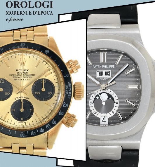 "Meeting Art Upcoming Auction ""Modern and Vintage Watches"" - MondaniWeb"