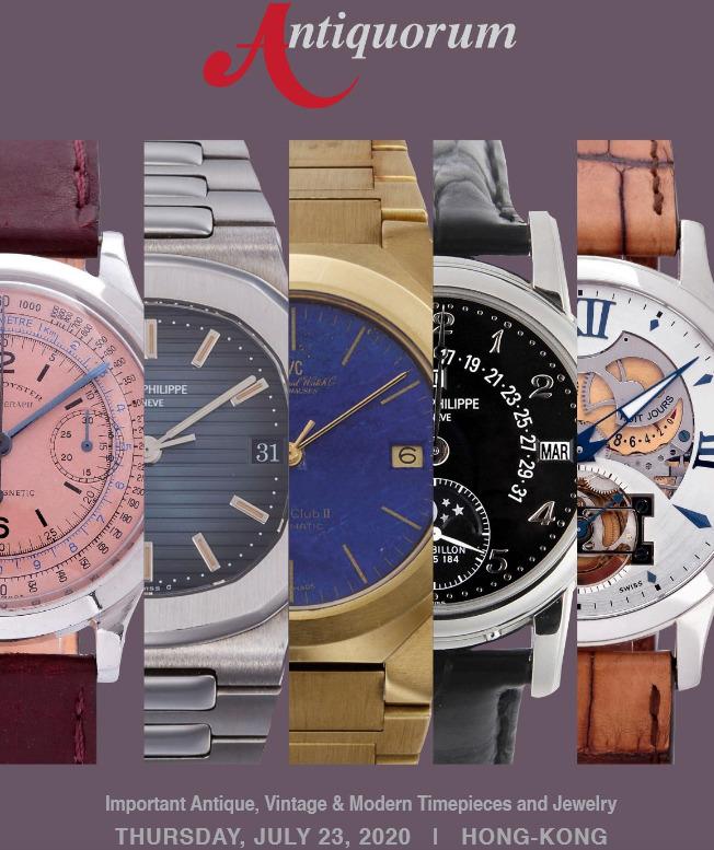 Antiquorum Hong Kong Important Antique, Vintage & Modern Timepieces and Jewellery Auction - MondaniWeb