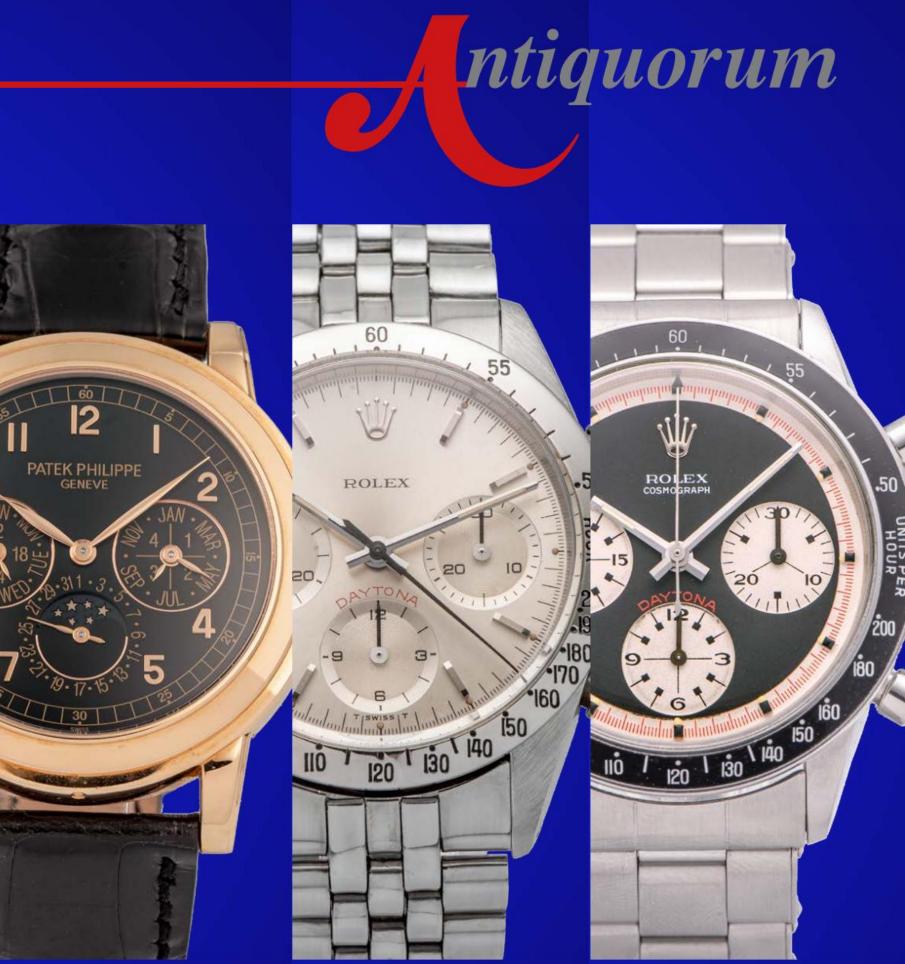 Important Modern & Vintage Timepieces Geneva Auction by Antiquorum - MondaniWeb