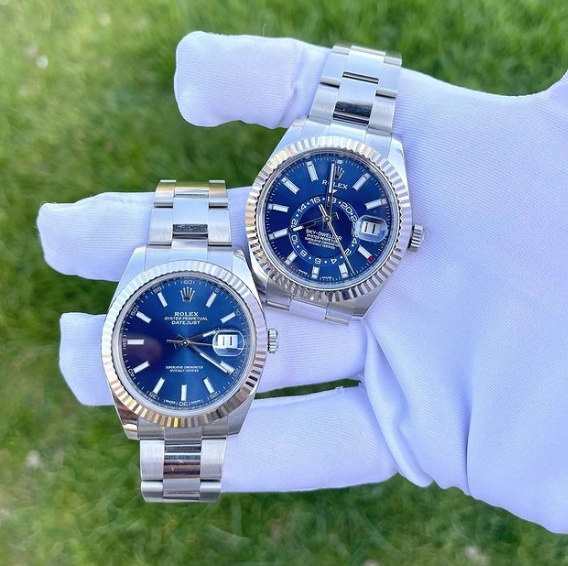 Group of blue Rolex - Mondani Web
