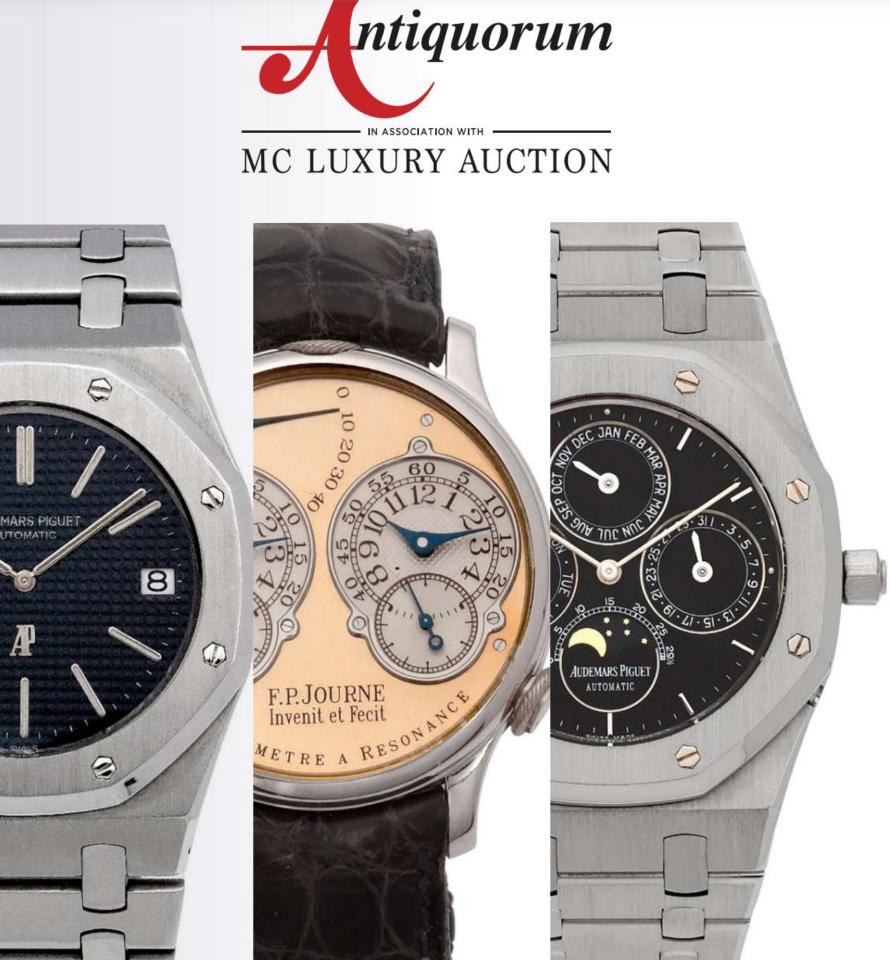 Important Modern & Vintage Timepieces Monaco Auction by Antiquorum - MondaniWeb