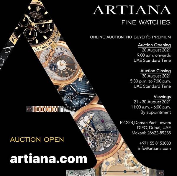 Fine Watches Online Auction by Artiana - MondaniWeb